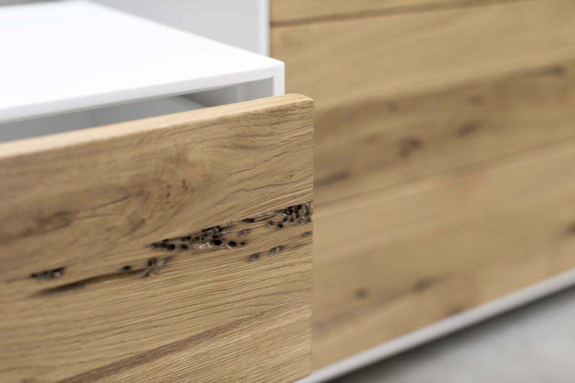 Comodino bianco legno briccola
